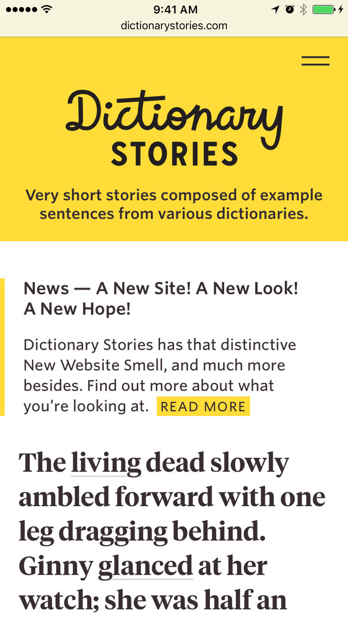 Dictionary Stories website 3