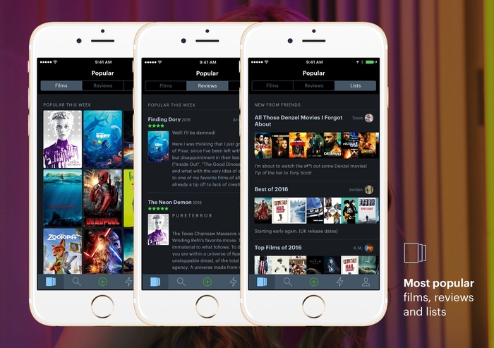 Letterboxd for iPhone 5