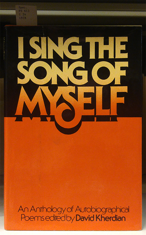 I Sing the Song of Myself, 1st edition