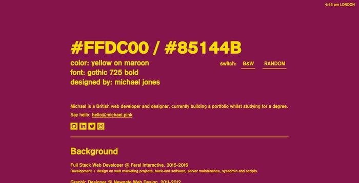 Michael Jones portfolio site 2