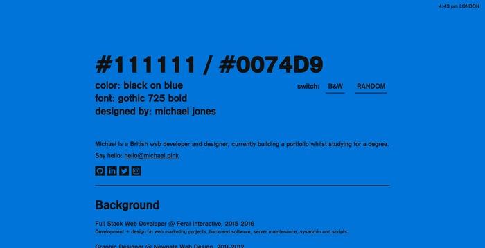Michael Jones portfolio site 3