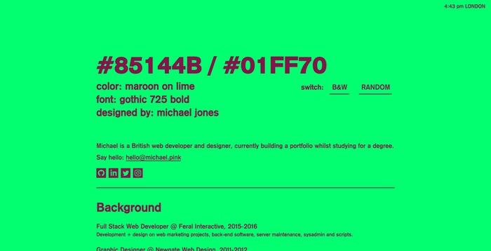 Michael Jones portfolio site 4