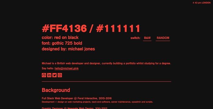 Michael Jones portfolio site 5