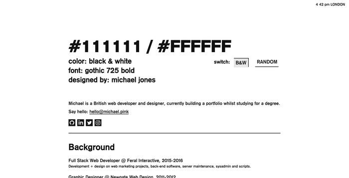 Michael Jones portfolio site 6
