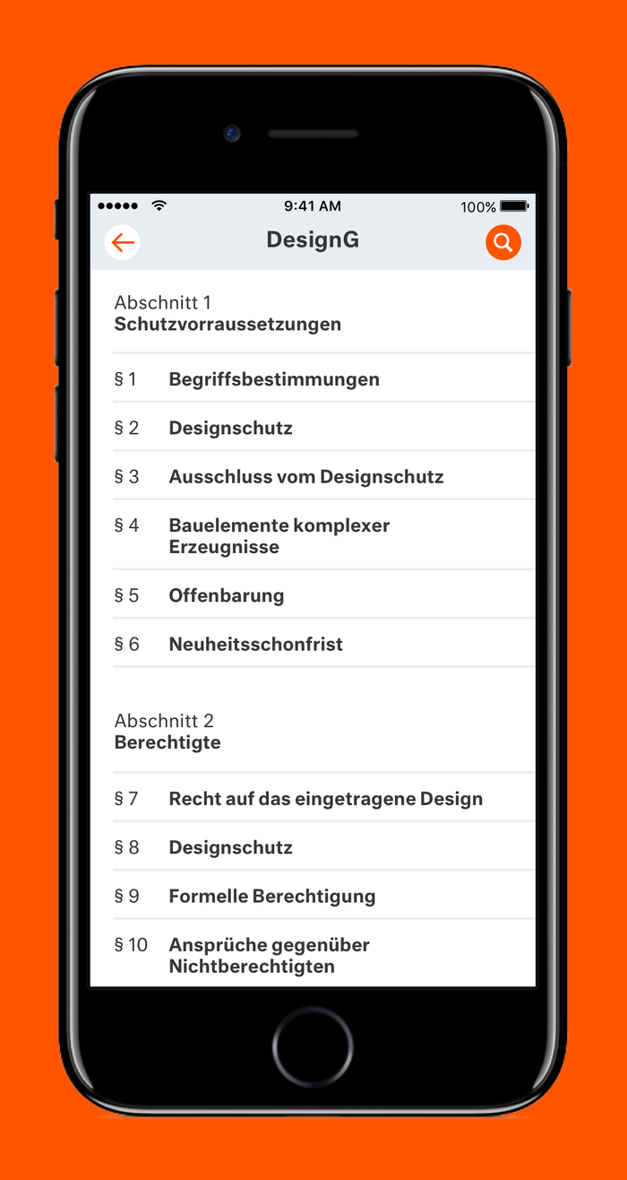 LX Gesetze App 2
