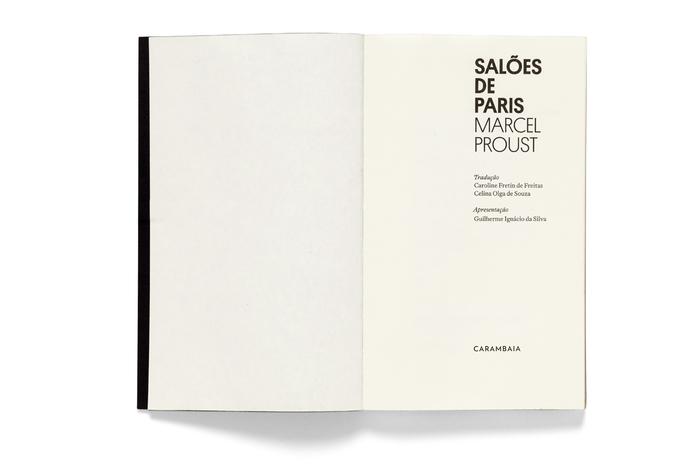 Salões de Paris by Marcel Proust, Carambaia 2