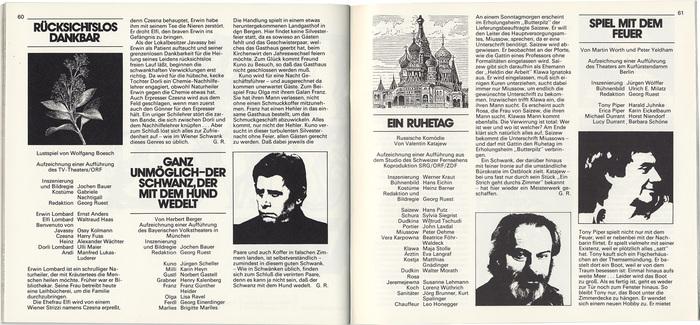 Schauspiel im ZDF (1978–83) 7