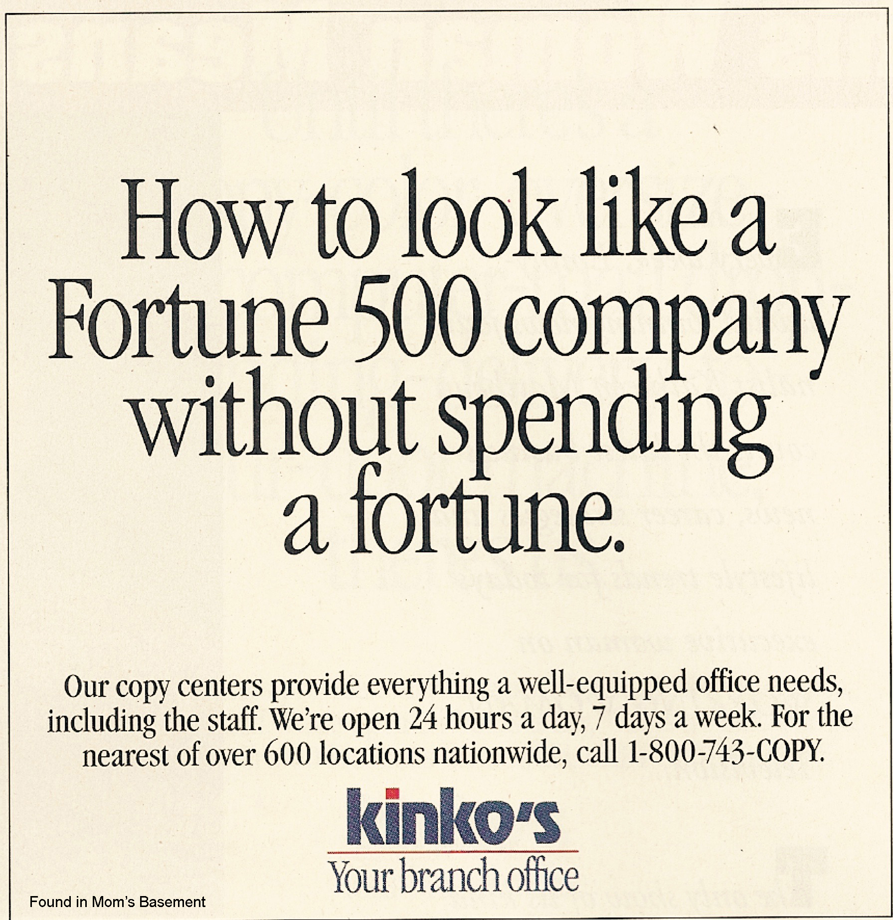 Kinko's ads (1992) - Fonts In Use
