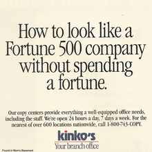 Kinko's ads and logo (1992)