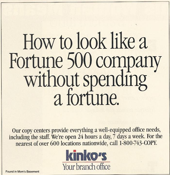 Kinko's ads and logo (1992) 1