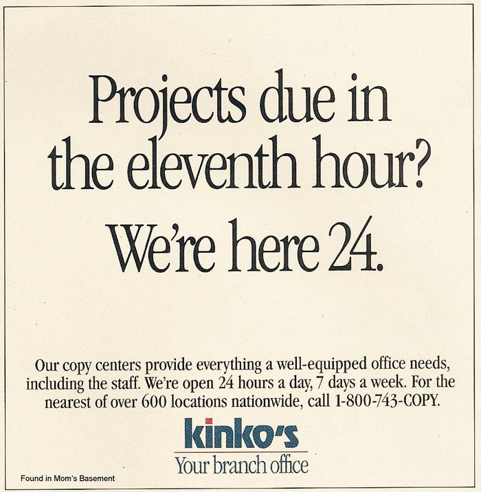 Kinko's ads and logo (1992) 3