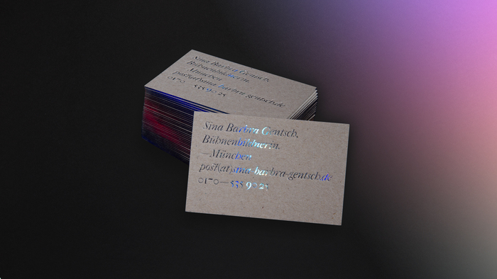 Sina Gentsch business cards 2