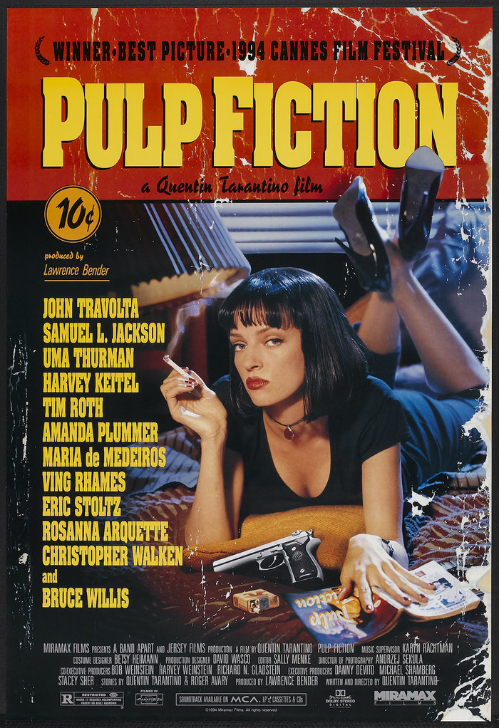 Pulp Fiction movie poster 2