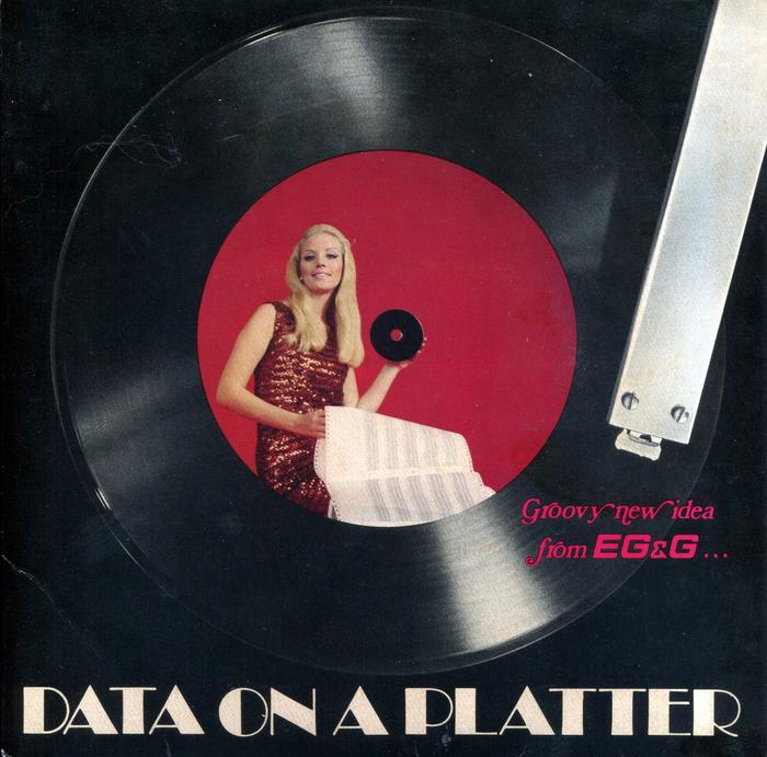 """Data on a Platter"" ad by EG&G"
