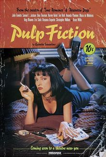 <cite>Pulp Fiction</cite> movie poster