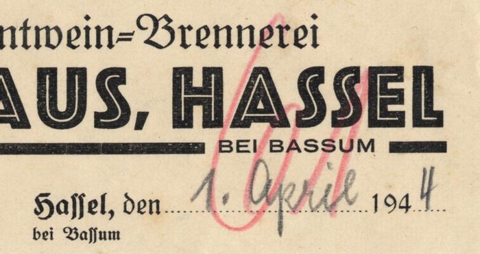 H. Niehaus invoice, 1944 2