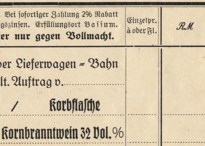 H. Niehaus invoice, 1944 3