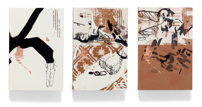 From left to right: regular edition cover, two exclusive special covers with original drawings by Carlos Issa on internal printed pages.