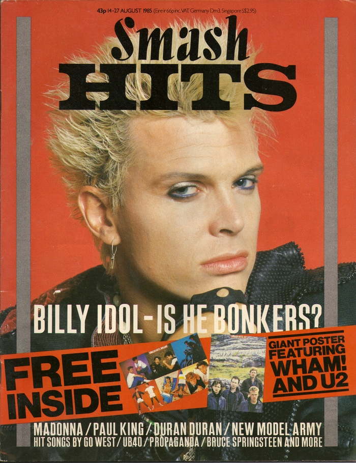 Vol 7, No. 16 from August 14, 1985 was the last one to feature this type combination. Cover: Billy Idol by Retna.