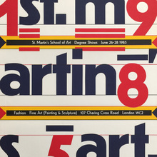 St. Martin's School of Art 1985 Degree Shows poster