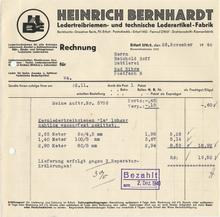 Heinrich Bernhardt invoice, 1940