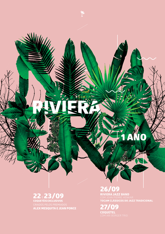 Poster made for 1 year anniversary of the riviera  http://www.behance.net/gallery/23551539/Riviera-1-ano