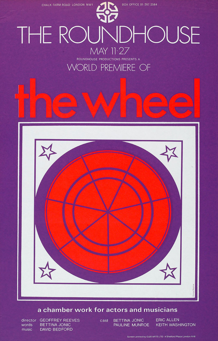 The Wheel, 1971, pairing Futura and Univers. Centerpiece signed by George Mayhew.
