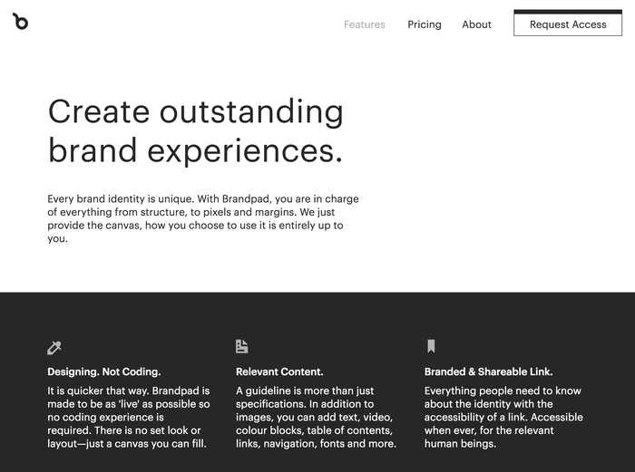 Features page.