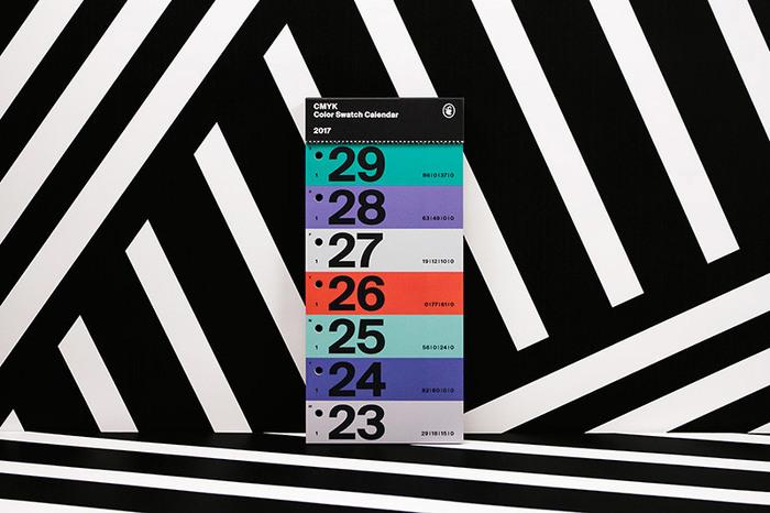 Color Swatch Calendar 2017 8