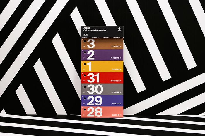 Color Swatch Calendar 2017 7