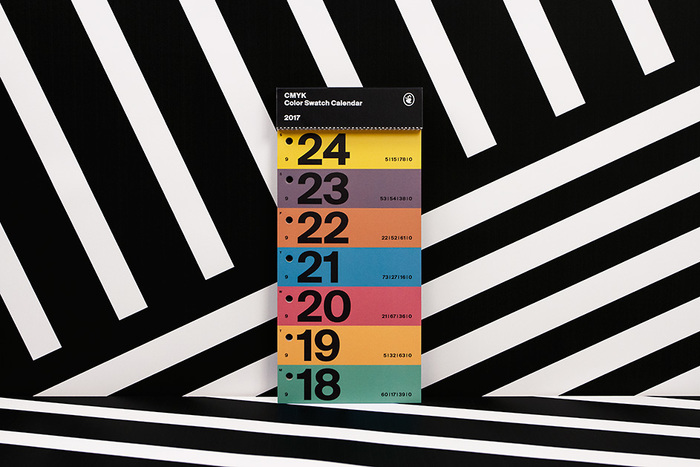 Color Swatch Calendar 2017 9