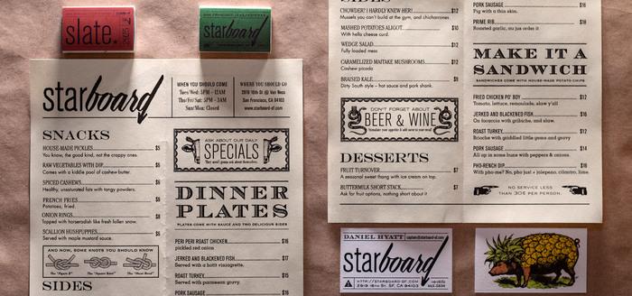 Starboard menu 4