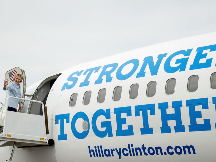 """Hillary Clinton campaign plane """"Stronger Together"""" 3"""