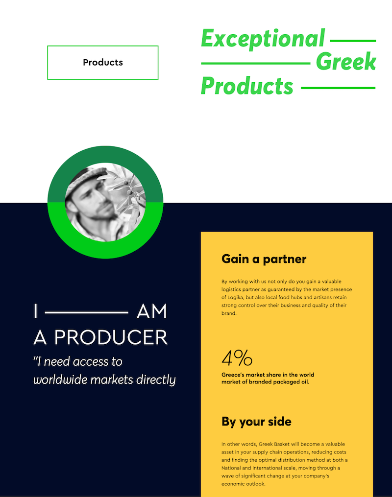 The Greek Basket - Fonts In Use