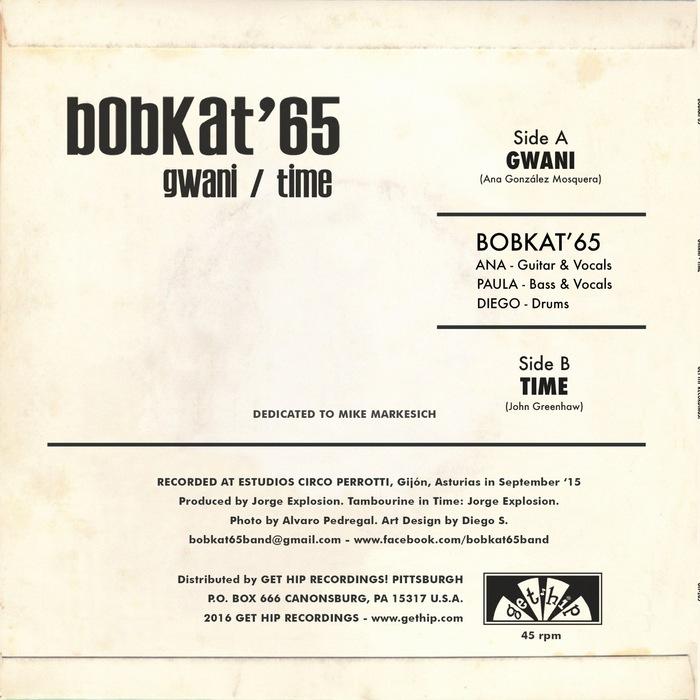 "Bobkat'65 – ""Gwani"" / ""Time"" single cover 2"