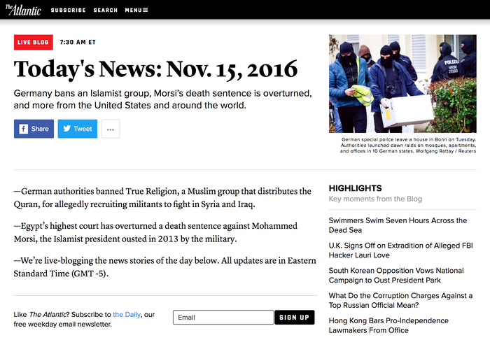 News section page.