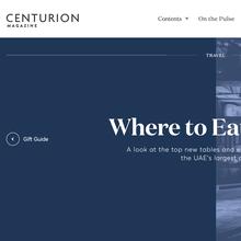 <cite>Centurion</cite> online magazine