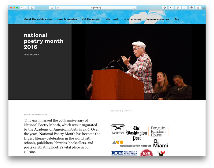 Poets.org (2014 redesign) 4