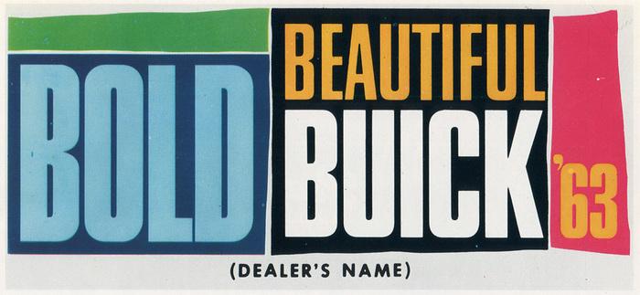 "Buick ad: ""Bold Beautiful Buick '63"""