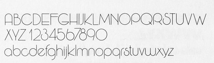 Wexford Light full alphabet.