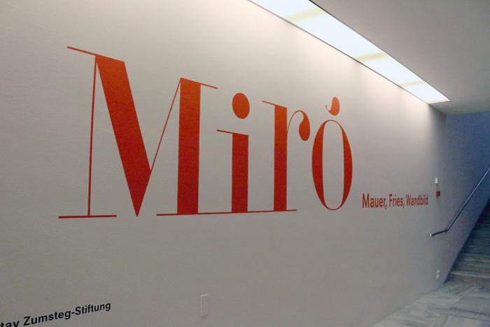 """""""Joan Miró. Wall, Frieze, Mural"""", Kunsthaus Zürich 1"""