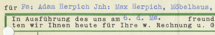 Detail featuring Schreibmaschinenschrift Kanzler, in combination with actual typewritten text.