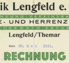Möbelfabrik Lengfeld invoice, 1931