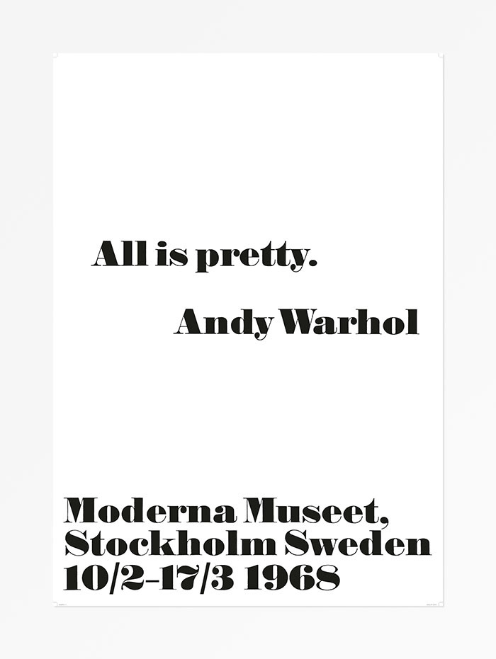 Andy Warhol at the Moderna Museet posters, 1968 2