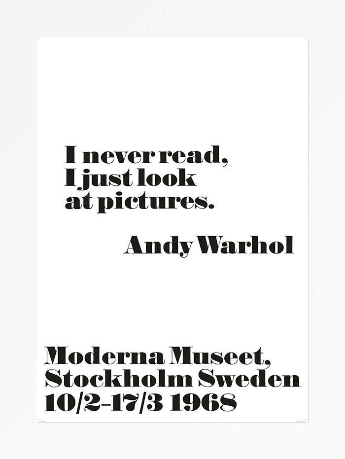 Andy Warhol at the Moderna Museet posters, 1968 3