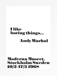 Andy Warhol at the Moderna Museet posters, 1968