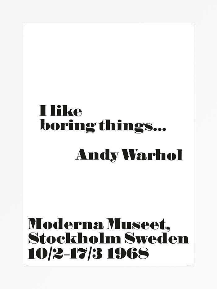 Andy Warhol at the Moderna Museet posters, 1968 4