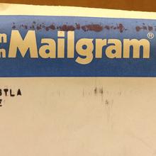 Western Union Mailgram