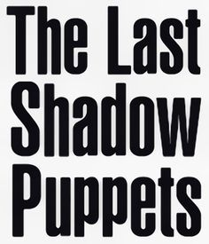 Text logo for The Last Shadow Puppets
