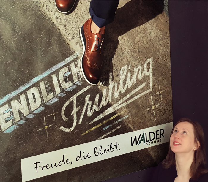 The two typefaces are playing the Walder game for two years now and are finding the right tone of voice especially in the children's footwear collection. But Leo Burnett Zurich, who is in charge of the brand identity, doesn't hesitate to apply the K-Informal look quite heavily also to more exclusive and expensive shoeware products.